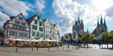 XL-Postkarte Erfurt Domplatz