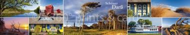 Panoramapostkarte Fischland-Darß-Zingst