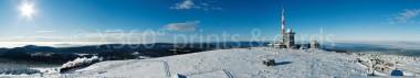Panoramapostkarte Winterbrocken