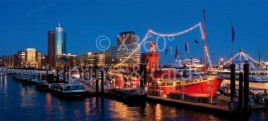 XL-Postkarte HH Feuerschiff