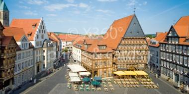 XL-Postkarte Hildesheim Marktplatz