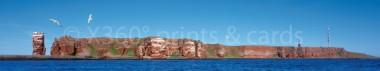 Panoramapostkarte Helgoland