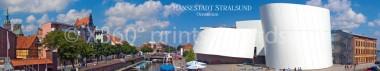 Panoramapostkarte Stralsund Ozeaneum