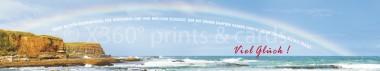 Panoramapostkarte Viel Glück (Regenbogen)