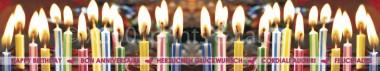 Panoramapostkarte Herzlichen Glückwunsch (Kerzen)