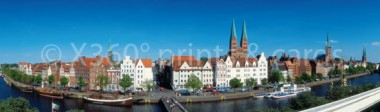 Lesezeichen Lübeck Stadtpanorama