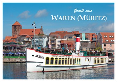 Postkarte Gruß aus Waren (Müritz)