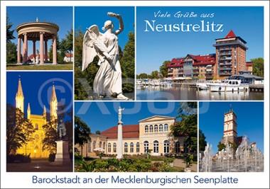 Postkarte Viele Grüße aus Neustrelitz