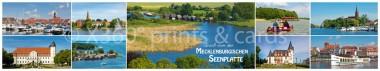 Panoramapostkarte Gruß von der Mecklenburgischen Seenplatte