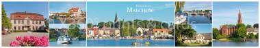 Panoramapostkarte Inselstadt Malchow Impressionen