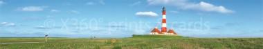 Panoramapostkarte Leuchtturm Westerhever