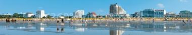 Panoramapostkarte Cuxhaven Strandpromenade