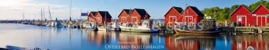 Panoramapostkarte Ostseebad Boltenhagen Fischereihafen