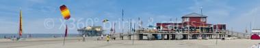 Panoramapostkarte St. Peter Surfer