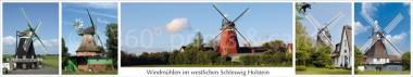 Panoramapostkarte SH-Windmühlen-westlich