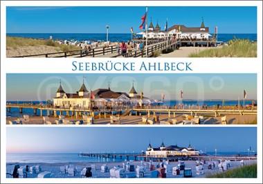 Postkarte Seebrücke Ahlbeck