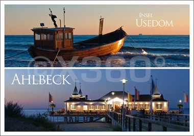 Postkarte Insel Usedom / Ahlbeck