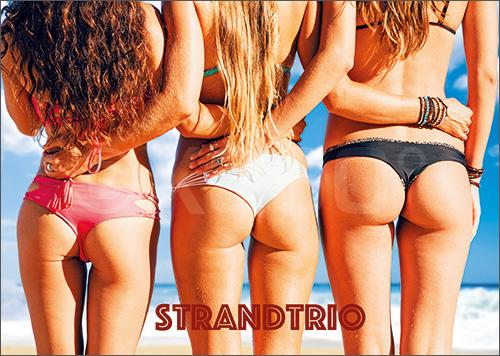 3D-Postkarte Strandtrio