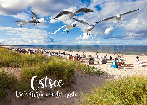 3D-Postkarte Viele Grüße von der Ostsee