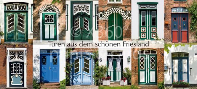 XL-Postkarte friesische Türen