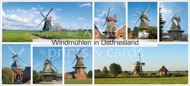XL-Postkarte Windmühlen NI