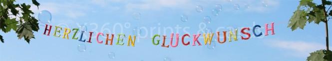 Panoramapostkarte Herzlichen Glückwunsch