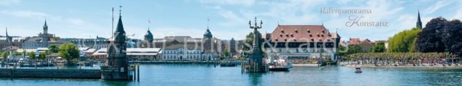 Panoramapostkarte Hafenpanorama Konstanz