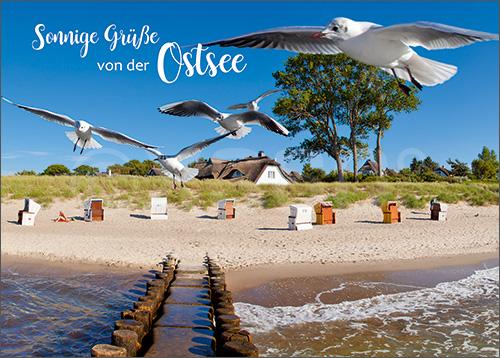 3D-Postkarte Sonnige Grüße von der Ostsee