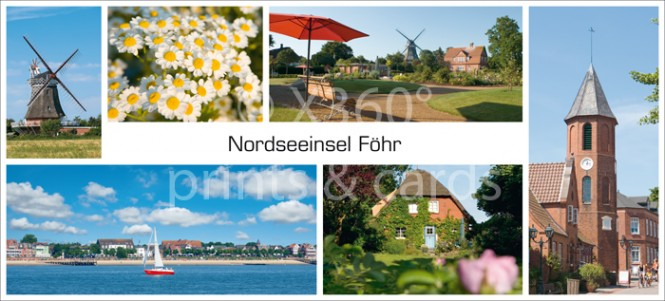 XL-Postkarte Föhr Impressionen
