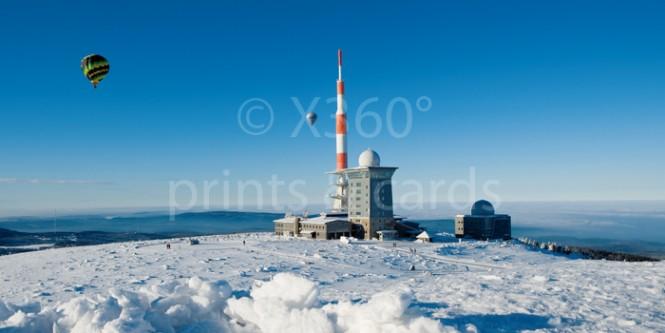 XL-Postkarte Brocken im Winter