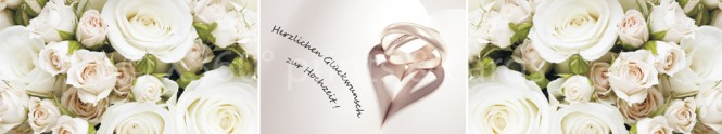 Panoramapostkarte Hochzeit