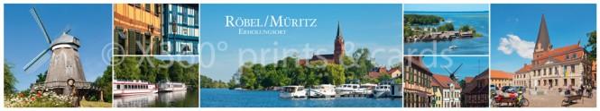 Panoramapostkarte Röbel/Müritz