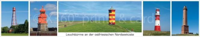 Panoramapostkarte Leuchttürme NI 2