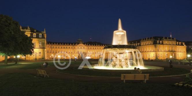 XL-Postkarte Stuttgart Schlossplatz