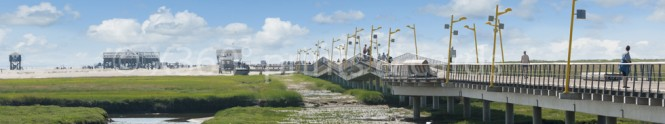 Panoramapostkarte St. Peter Steg