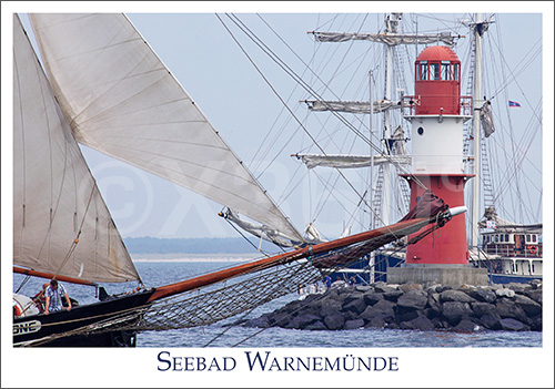 Postkarte Seebad Warnemünde