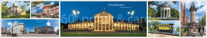 Panoramapostkarte Wiesbaden Impressionen